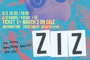 ZIZ、6周年を祝い5月26日、新宿ZircoTokyoでワンマンGIG開催!