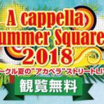 """関西一円の大学アカペラサークルが集うストリートジョイントライブ """"A cappella Summer Square 2018"""""""