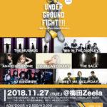 11月27日梅田Zeela「UNDER GROUND FIGHT!!!!vol.5 -梅田Zeela 5th ANNIVERSARY-」