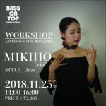 【DANCE WORKSHOP】:Jazz Dance MIKIHO(via)
