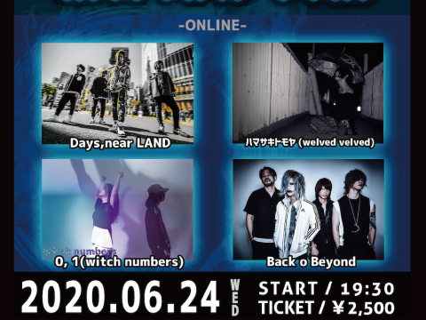 6/24新宿ZircoTokyo ZircoTokyo & yuki. presents 「absolute blue」-ONLINE-